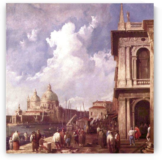 Piazza in Venice by Canaletto by Canaletto