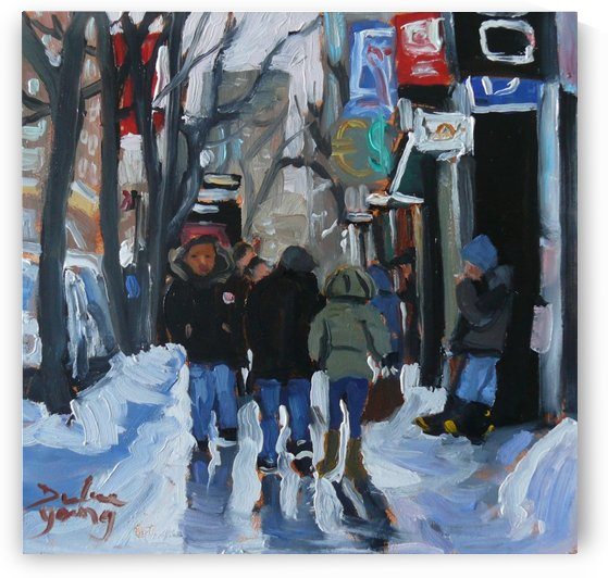 Montrel winter Scene, Ste-Catherine by Darlene Young