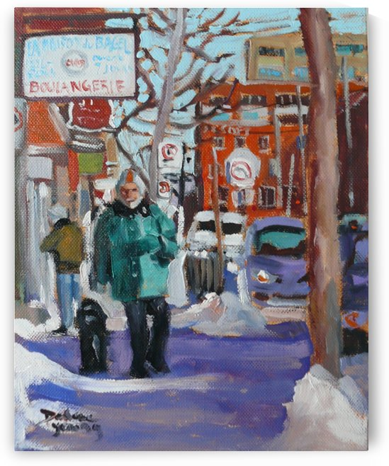 Montreal Winter Scene, St-Viateur, Mile End by Darlene Young