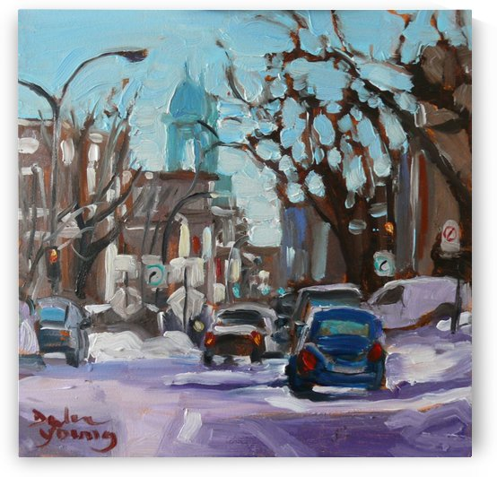 Montreal Winter Scene, Petite Italie by Darlene Young Canadian Artist