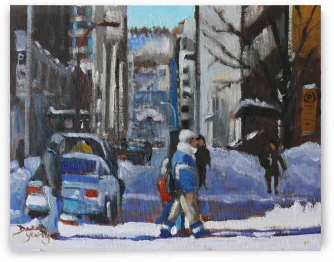 Montreal Winter Scene Drummond by Darlene Young Canadian Artist