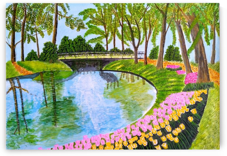 Lakeside Garden by MKulArts
