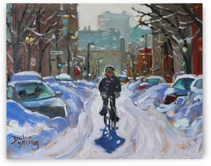 Montreal Public Transport by Darlene Young Canadian Artist