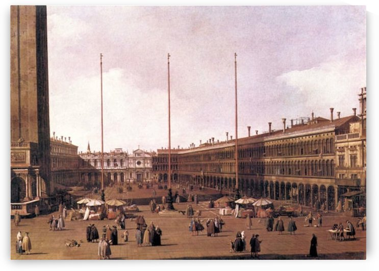 Piazza San Marco -2- by Canaletto by Canaletto