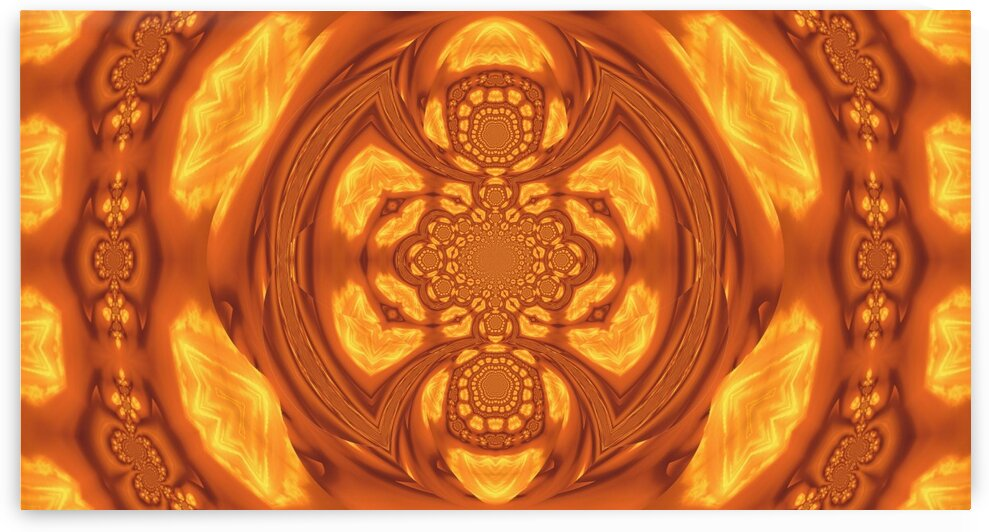 Fire Feather Mandala Dream-Catcher 1  by Sherrie Larch