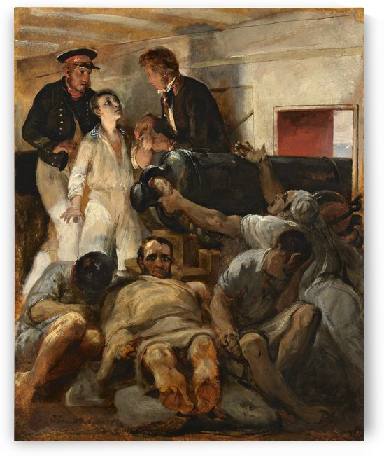 Le Cholera morbus a bord de la Melpomene by Antoine Charles Horace Vernet