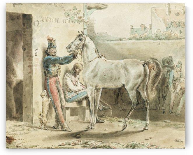 Entourage de Antoine by Antoine Charles Horace Vernet
