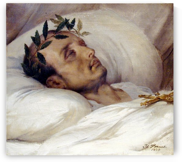 Napoleon on his death bed by Antoine Charles Horace Vernet
