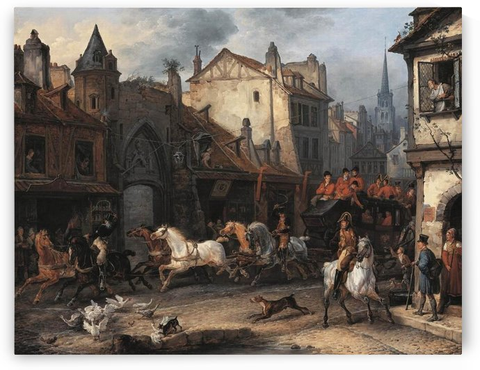 Return from the Hunt by Antoine Charles Horace Vernet