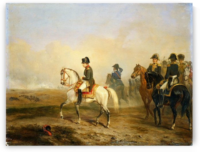 Emperor Napoleon I and His Staff on Horseback 1850 by Antoine Charles Horace Vernet