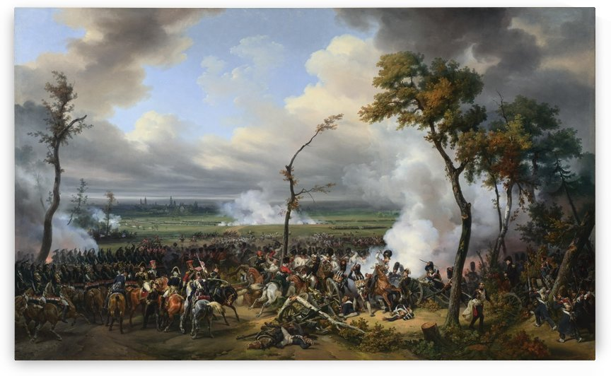 Battle of Hanau by Antoine Charles Horace Vernet