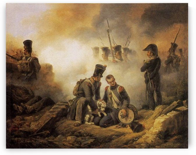 The Dog of the Regiment Wounded by Antoine Charles Horace Vernet