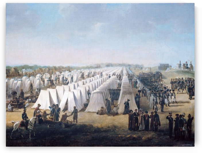 Army Camp in Rows 1831 by Antoine Charles Horace Vernet
