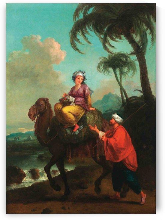 Coppia orientale con dromedario by Francesco Zuccarelli