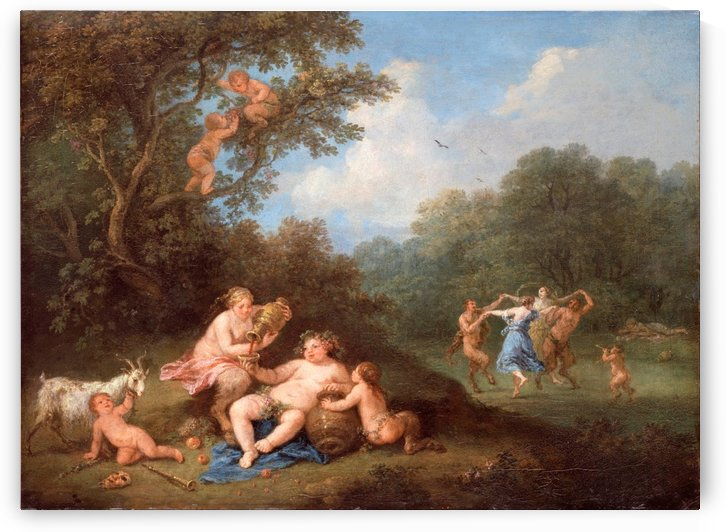 Bacchanal with symbols by Francesco Zuccarelli
