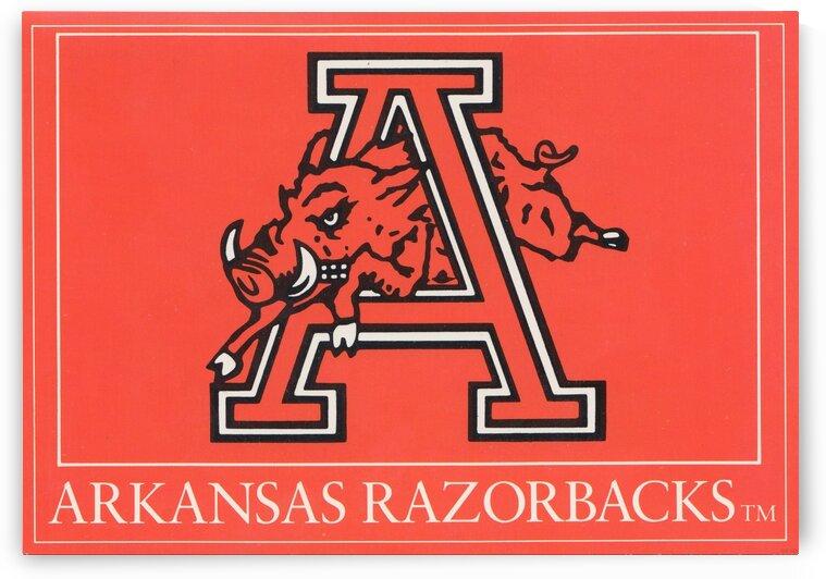 1980s Arkansas Razorback Art by Row One Brand