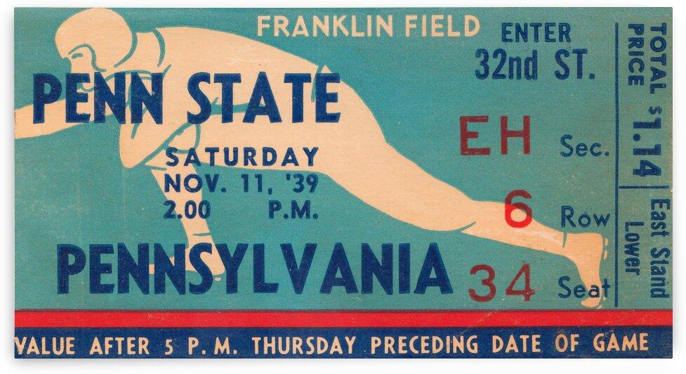 1939 Penn State vs. Pennsylvania by Row One Brand