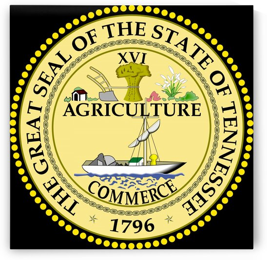 Tennessee State Great Seal by Fun With Flags