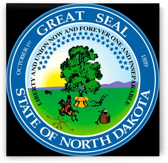 North Dakota State Great Seal by Fun With Flags