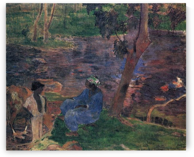 Pond Shore by Gauguin by Gauguin