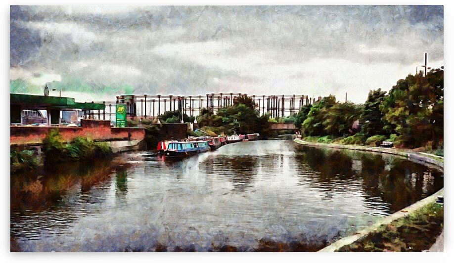 Boats On Regents Canal London  by Dorothy Berry-Lound