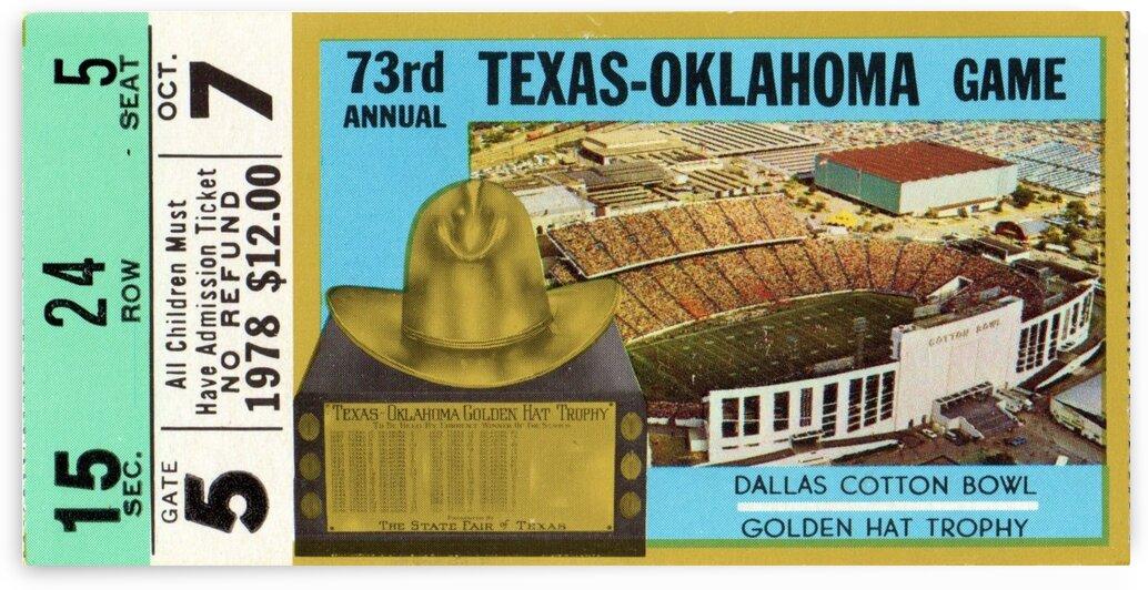 1978 Oklahoma vs. Texas by Row One Brand