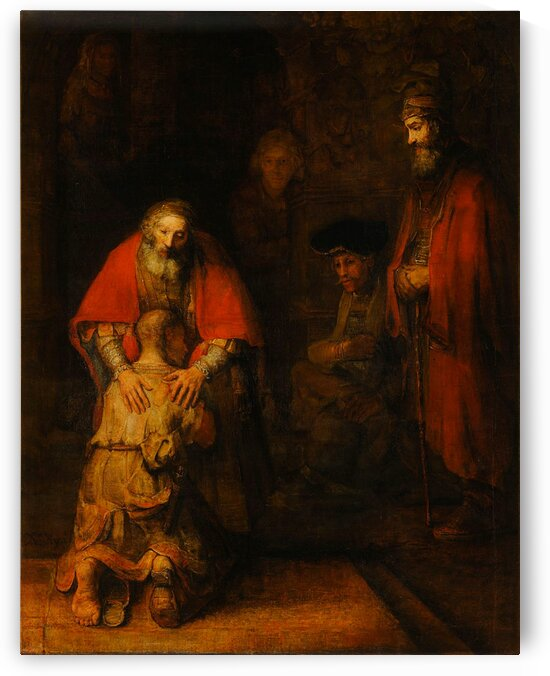 Rembrandt van Rijn: Return of the Prodigal Son - HD 300ppi by Stock Photography