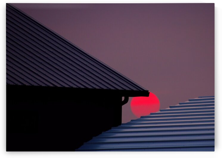 Smokey Sunset and Steel Roofs by Bern E King Photography