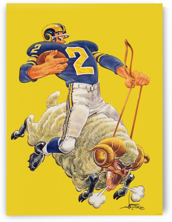 1959 LA Rams Art  by Row One Brand