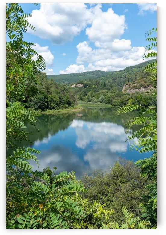 Leaf Framed View of French Lake by Pete bird - StrangeWorkz