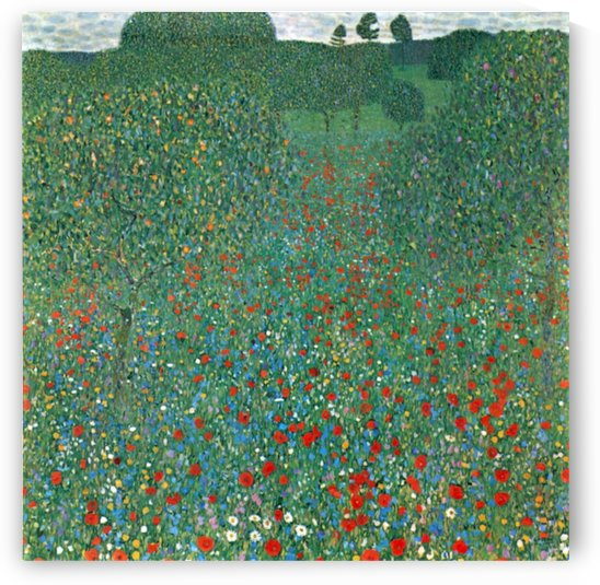 Poppy Field by Klimt by Klimt