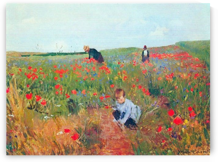 Poppy in the field by Cassatt by Cassatt