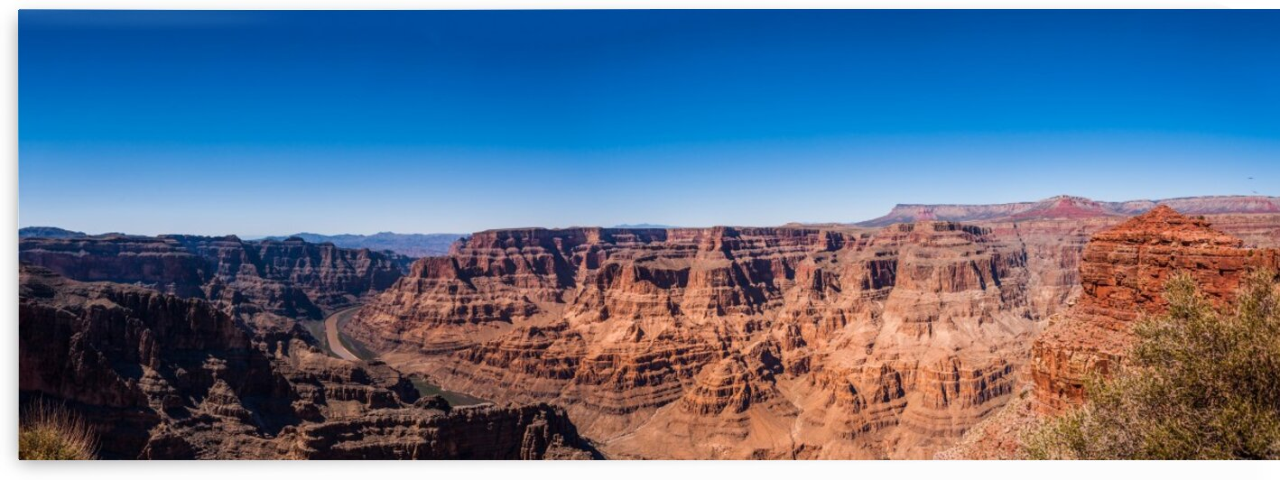 Colorado River and the Grand Canyon Panorama by Bobby Twilley Jr