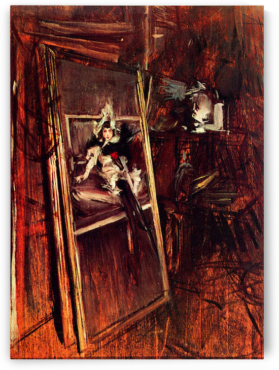 Inside the studio of the painter with youth Errazuriz by Giovanni Boldini by Giovanni Boldini