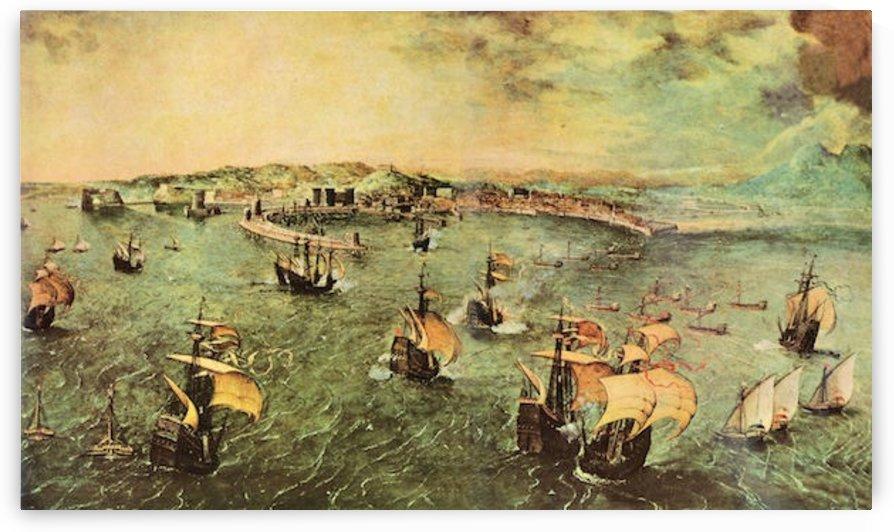 Port of Naples by Pieter Bruegel by Pieter Bruegel