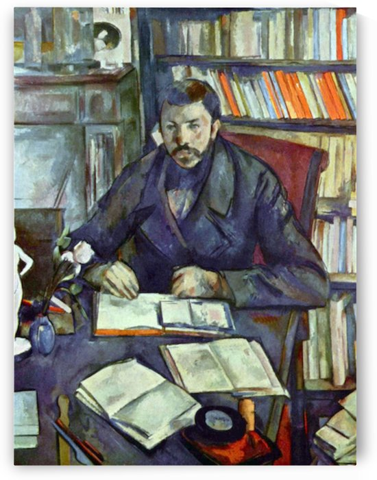 Portait of Gustave Geffroy by Cezanne by Cezanne