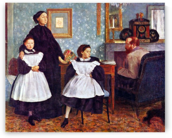 Portait of the Bellelli family by Degas by Degas