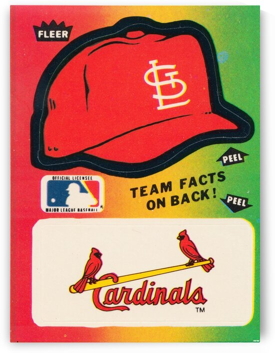 1983 Cardinals Fleer Decal Art by Row One Brand