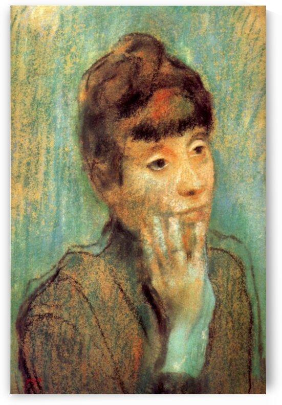 Portrait of a Lady by Degas by Degas