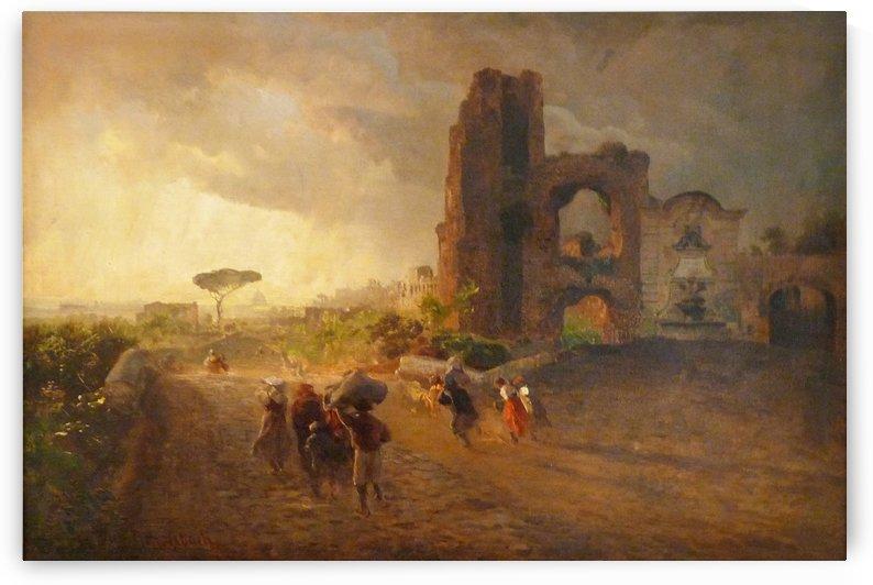 Paysage romain by Oswald Achenbach