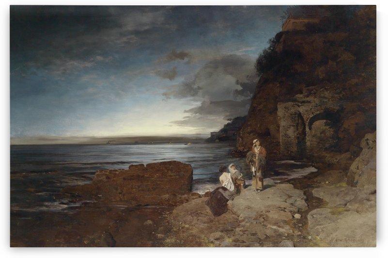 Abend an der Kuste 1880 by Oswald Achenbach