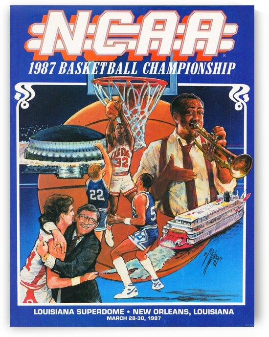 1987 NCAA Basketball Championship by Row One Brand