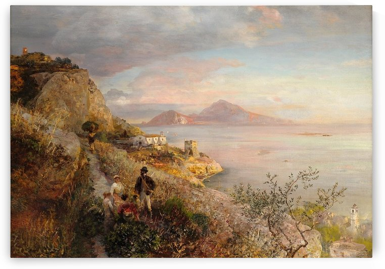 Gulf of Naples with a View of Capri by Oswald Achenbach