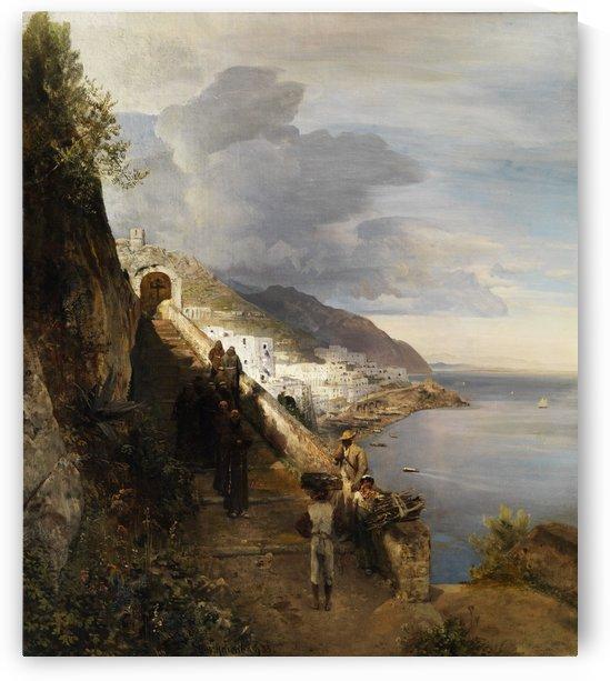 Kuste von Amalfi by Oswald Achenbach