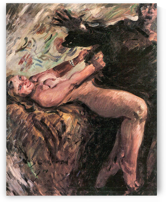 Joseph and Potiphars wife by Lovis Corinth by Lovis Corinth