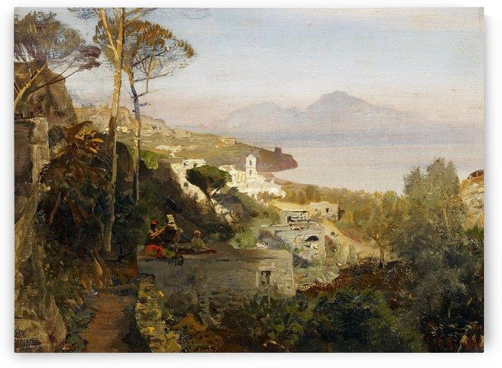 Blick von Sorrent auf Capri 1884 by Oswald Achenbach