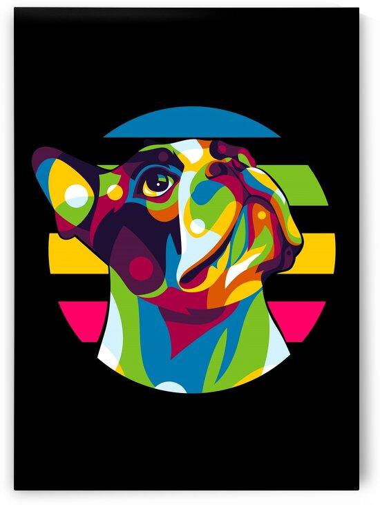 The Little Pitbull Dog by wpaprint