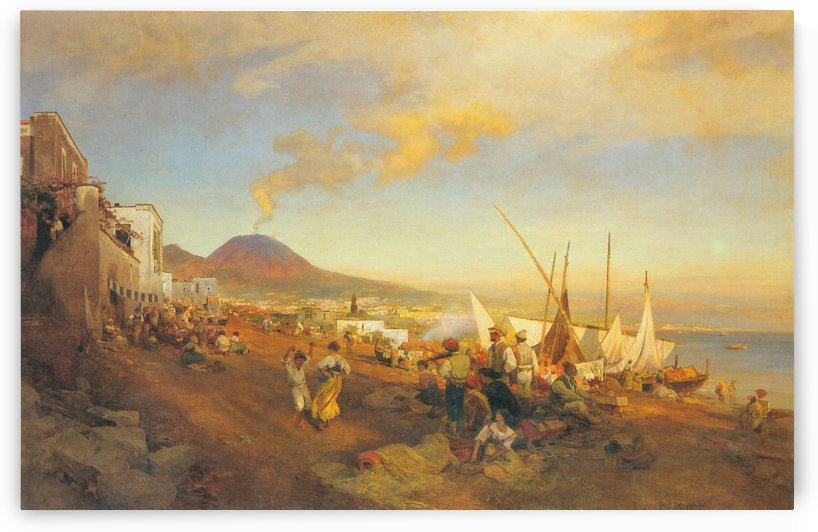 View of Naples by Oswald Achenbach