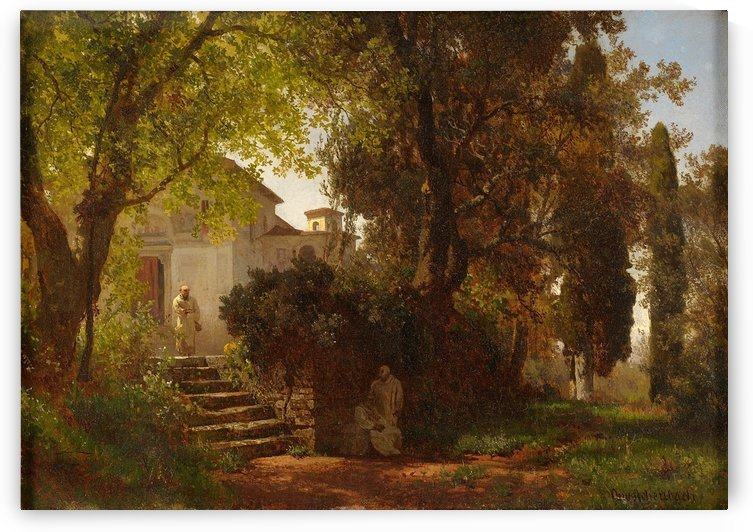 In the Park of Castel Gandolfo by Oswald Achenbach