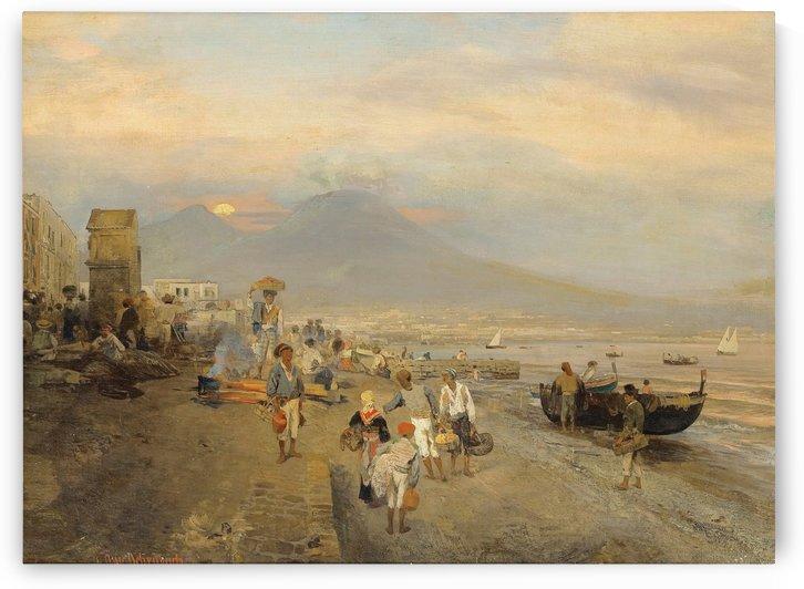 Vue de Naples au Soleil Couchant by Oswald Achenbach
